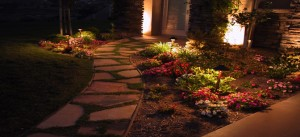 low voltage lighting services along a path